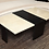 Thumbnail: Custom Goatskin Two-Tone Cocktail Table