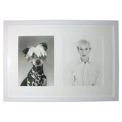 Andy in Drag and Chinese Crested Dog by Christopher Makos