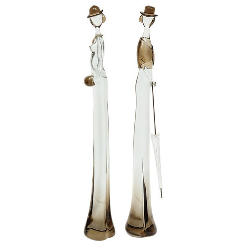 Pair of Vintage Venetian Glass Figurative Sculptures