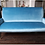 Thumbnail: Custom Velvet Settee with Brass Legs