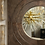 Thumbnail: Custom Circle Mirror in Square Parchment Frame