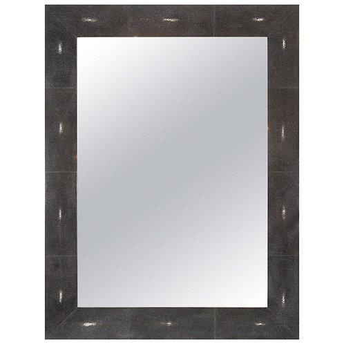 Custom Black Shagreen Mirror