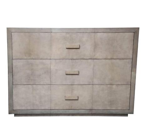 Custom Parchment Oversized Two-Tone Dresser