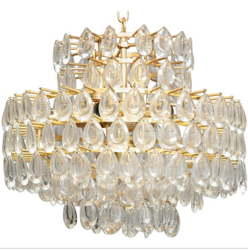 Vintage Palwa Tear Drop Chandelier