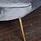 Thumbnail: Elegant Mid-Century Style Curved Sofa in Grey Velvet
