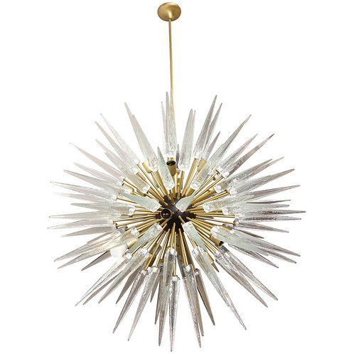Stunning Murano Glass Spike Sputnik Chandelier