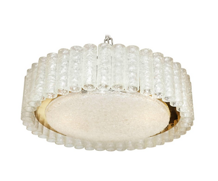 Doria Tubular and Round Flush Mount Fixture