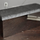 Thumbnail: Wrapped Stainless Bench Upholstered in Grey Velvet