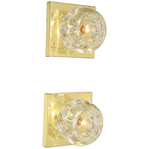 Pair of Peill and Putzler Flush Mount or Sconces