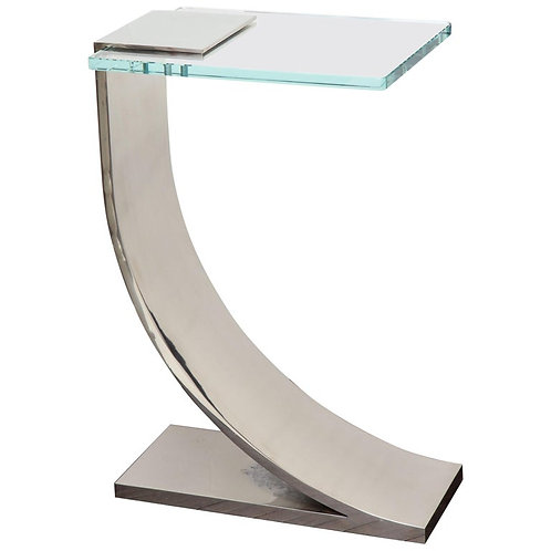 Nickel Plated Z Side Table