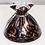 Thumbnail: Black and Bronze Murano Glass Vase