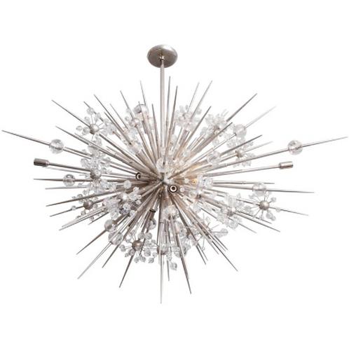 Custom Austrian Crystal Spiked Sputnik Chandelier