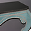 Thumbnail: Green Teal Velvet Wall Mount Console with Black Granite Top