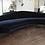 Thumbnail: Custom Curved Sofa with Brass Legs