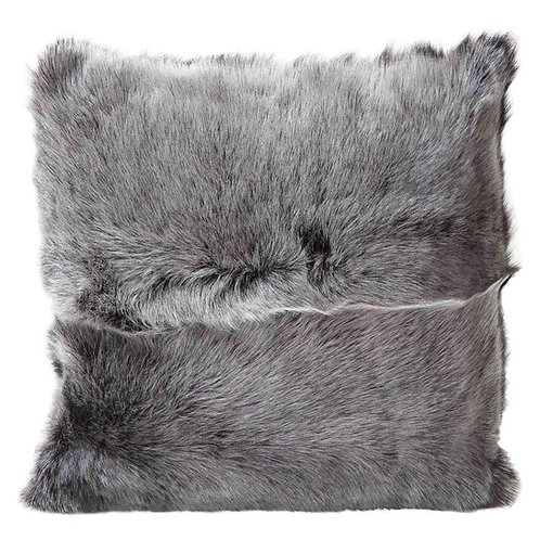 Double Sided Toscana Shearing Pillow in Grey Color