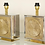 Thumbnail: Pair of Italian Brass and Nickel Table Lamps