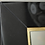Thumbnail: Custom Black Glass and Brass Full Length Mirror