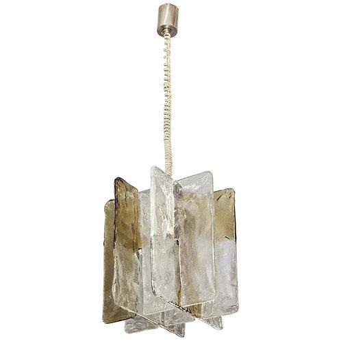 Vintage Mazzega Ombre Glass Pendant Chandelier