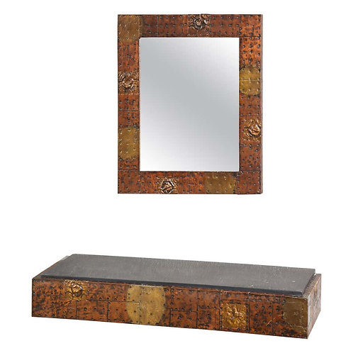 Paul Evans Patchwork Mirror and Wall Mounted Console