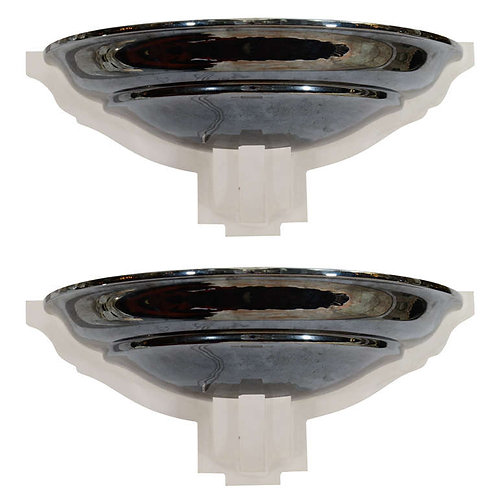 Pair of 1970's Karl Springer Lucite and Gun Metal Sconces