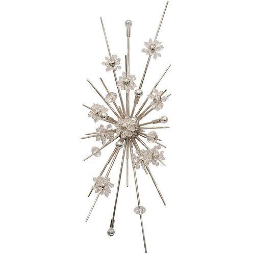 Monumental Crystal Starburst Sconce