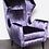 Thumbnail: Pair of Custom Wing Chairs in the Style of Gio Ponti