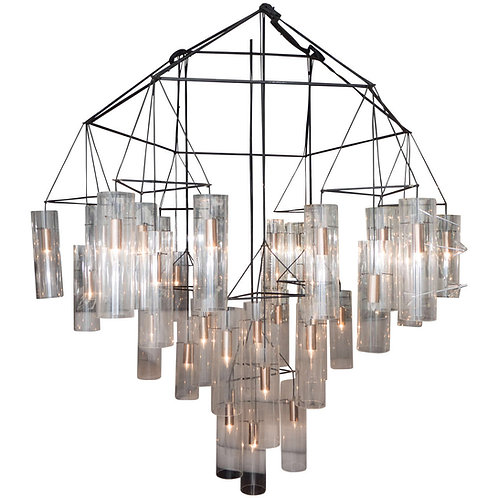 Huge Custom Acrylic Pendant Chandelier in the Manner of Aartreme