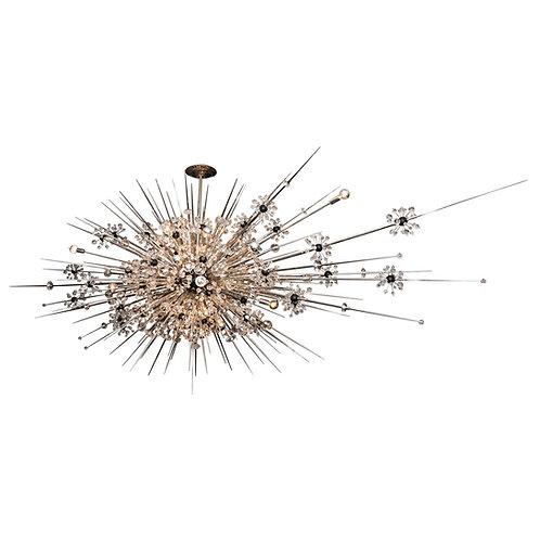 Custom Monumental Crystal Sputnik Chandelier with Spikes