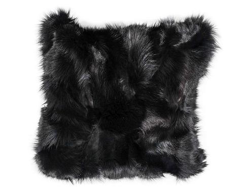 Custom Double Sided Genuine Black Fox Pillow