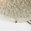 Thumbnail: Vintage Hillebrand Textured Bubble Glass Flush Mount in Polished Brass