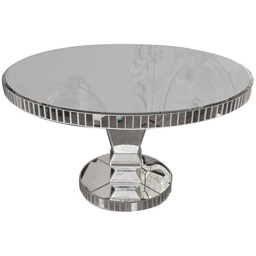 Custom Round Mirrored Dining Table