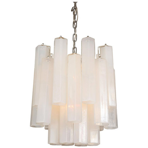 Vintage Italian Opalescent Glass Chandelier