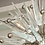 Thumbnail: Custom Murano Clear Glass Spike Sputnik with Nickel Spheres