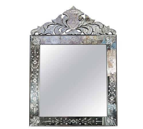 Elegant Crown Top Venetian Style Mirror