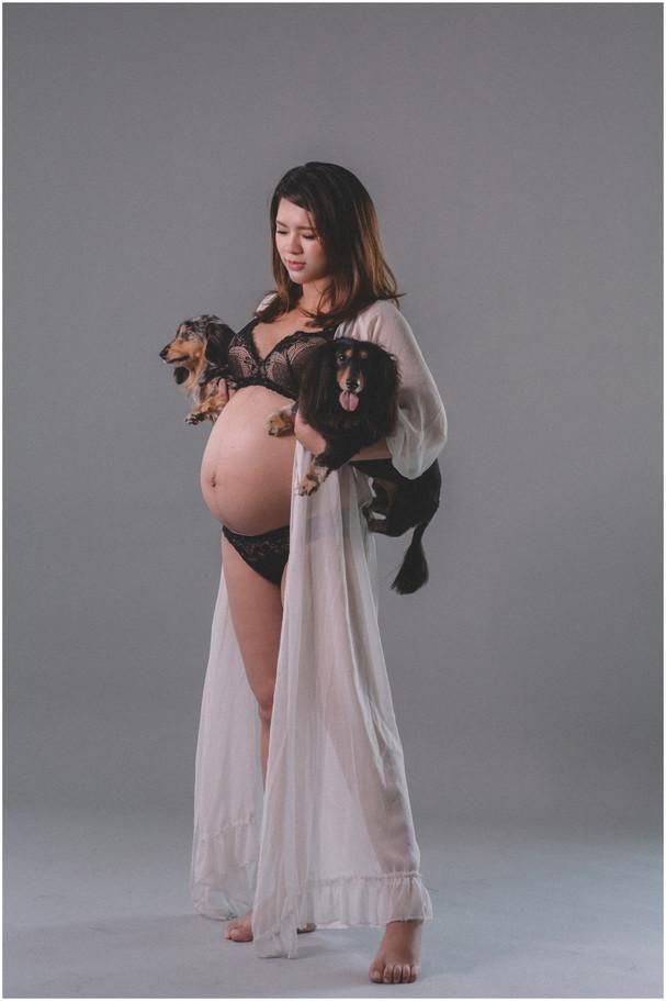 板橋孕期寫真 / 台北孕婦寫真 / 妊娠寫真 / 清新自然  / 親子寫真 / 素人寫真 / 寵物寫真 / 柴犬 / 臘腸  / 孕婦禮服 / 孕婦婚紗