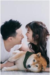 先豪 / 婚紗照 / 沙崙海灘 / 自然捲攝影棚 / 寵物寫真 / 柴犬 / 素人寫真