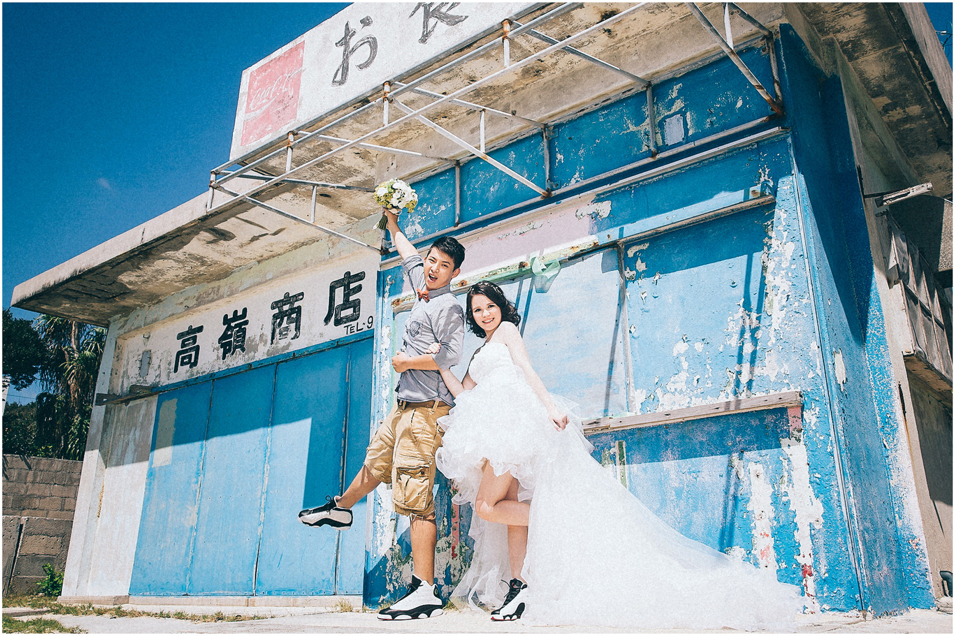 沖繩婚紗 / 海外婚紗 / 古宇利大橋 / 港川外人住宅區 / 新園海灘 / 親子婚紗