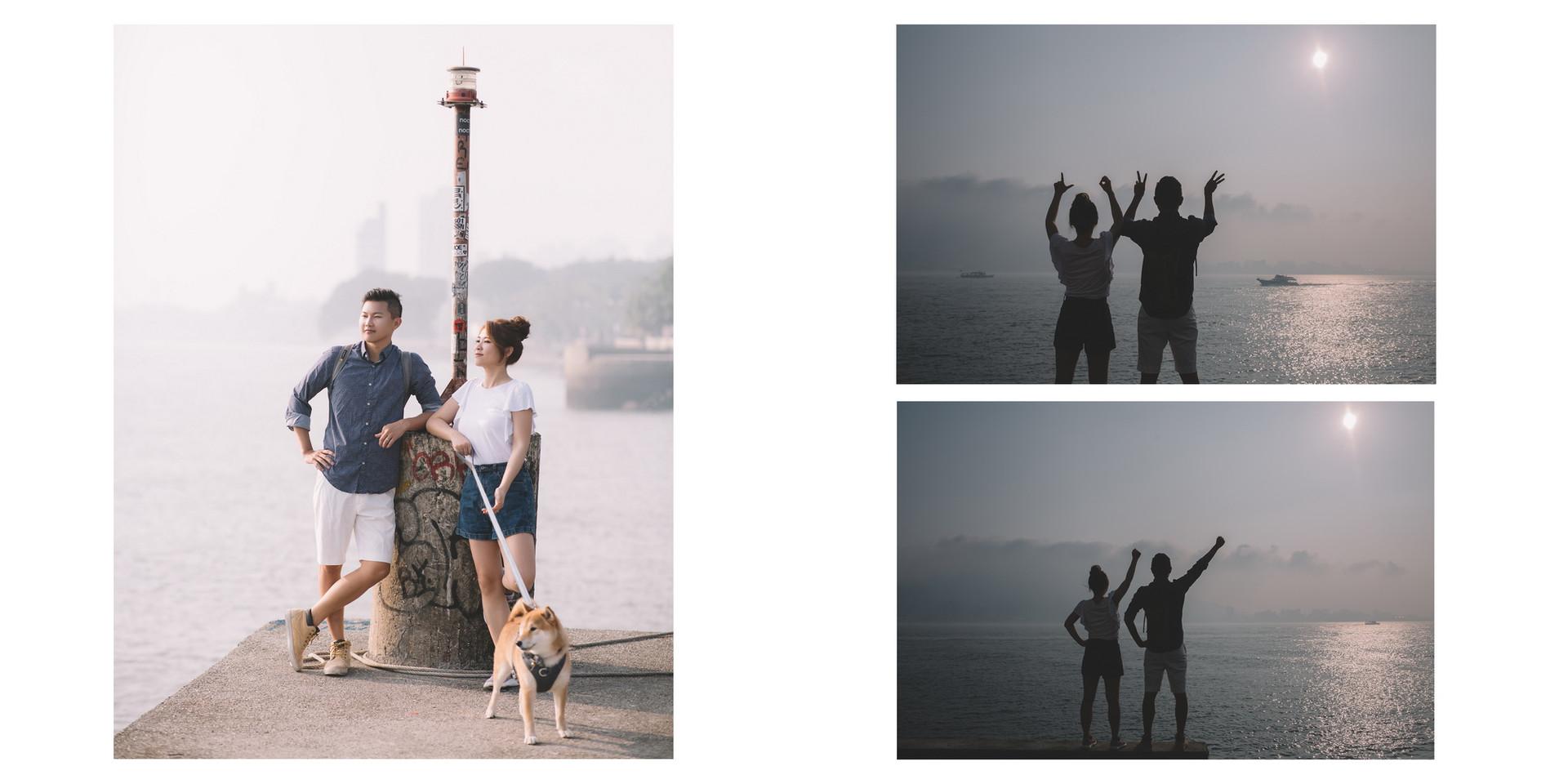 沙崙海邊 / 砲台公園 / 淡水老街 / 寵物婚紗 / 自然捲棚拍 / 素人寫真