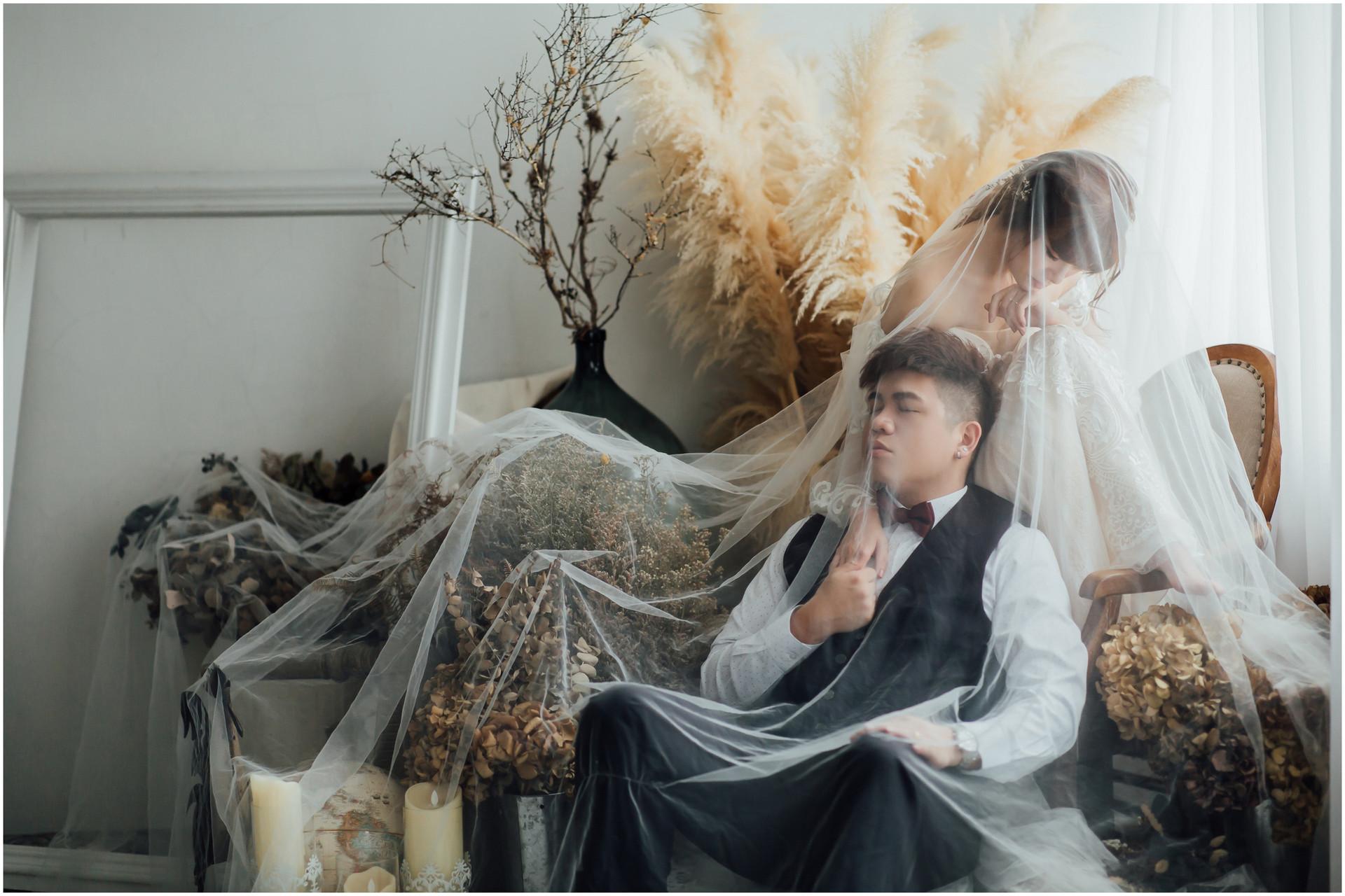 寵物婚紗 / 自然捲棚拍 / 素人寫真