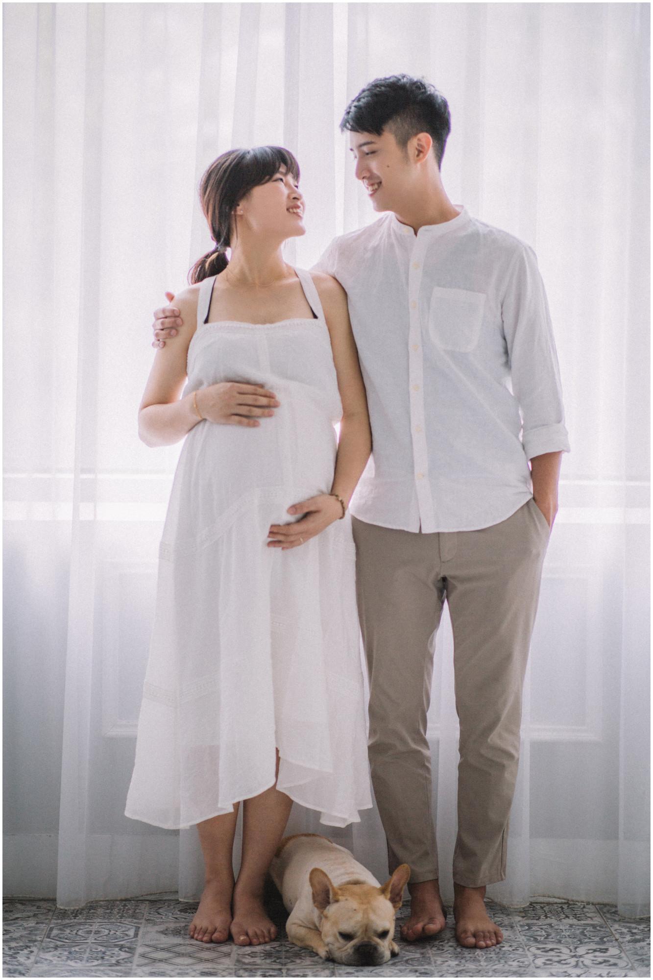 板橋孕期寫真 / 台北孕婦寫真 / 妊娠寫真 / 清新自然  / 親子寫真 / 素人寫真 / 寵物寫真 / 柴犬 / 法鬥 / 孕婦禮服 / 孕婦婚紗