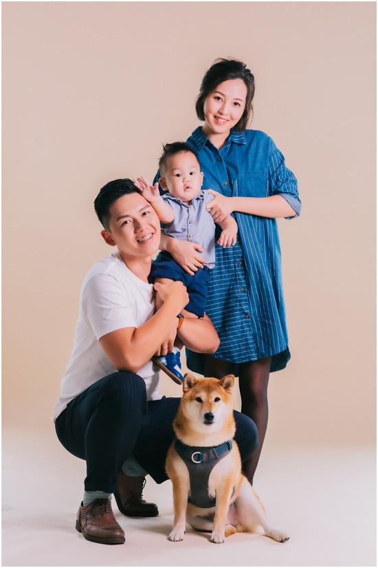 親子寫真 / 全家福 / 柴犬 / 寶寶寫真 / 台北板橋攝影 / 親子婚紗 / handmade cake