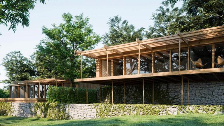 3D casa castanheiros