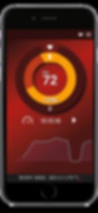 Body Bike Indoor Cycling App Red Screen