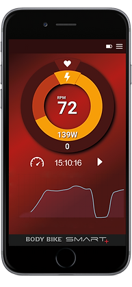 Body Bike Indoor Cycling App Red Screen