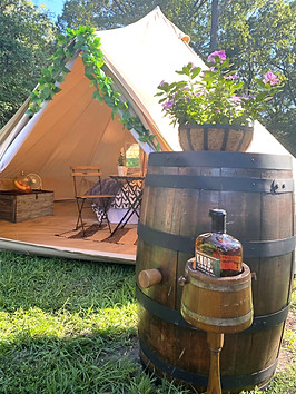 Glamping with Whiskey