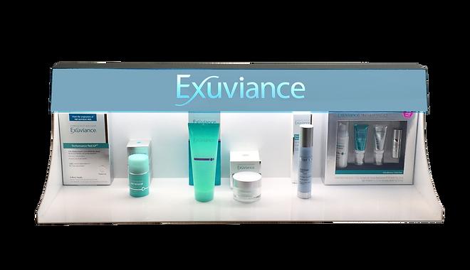 Exuvance retail header
