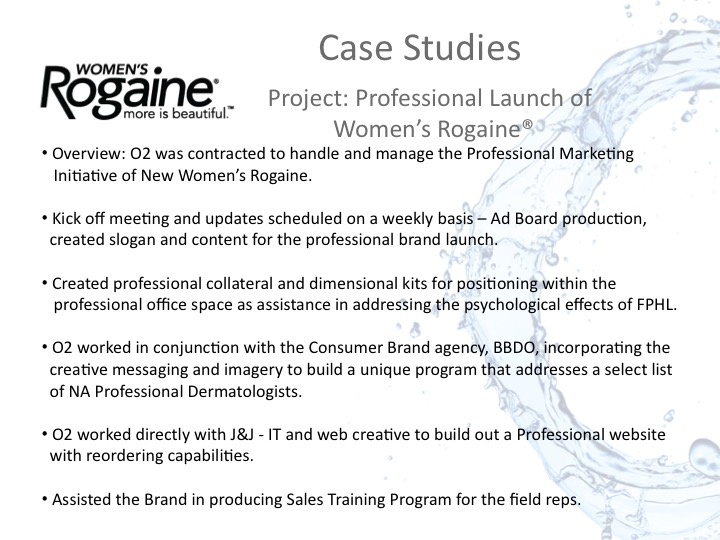 Womens Rogaine Case Study