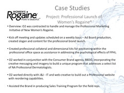 Womens Rogaine Case Study