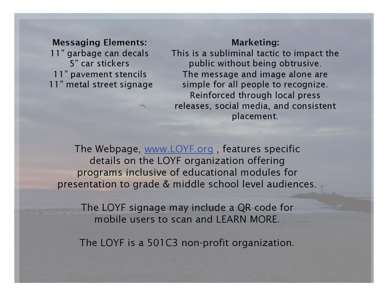 LOYF Program Elements