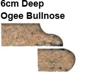 6cm Deep Ogee Bullnose